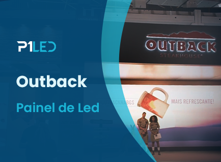 Telão de led indoor criado para evento do OutBack