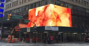 Painel de led na Times Square em Nova Iorque